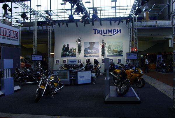 Messeauftritt Triumph Motorräder Deutschland GmbH
